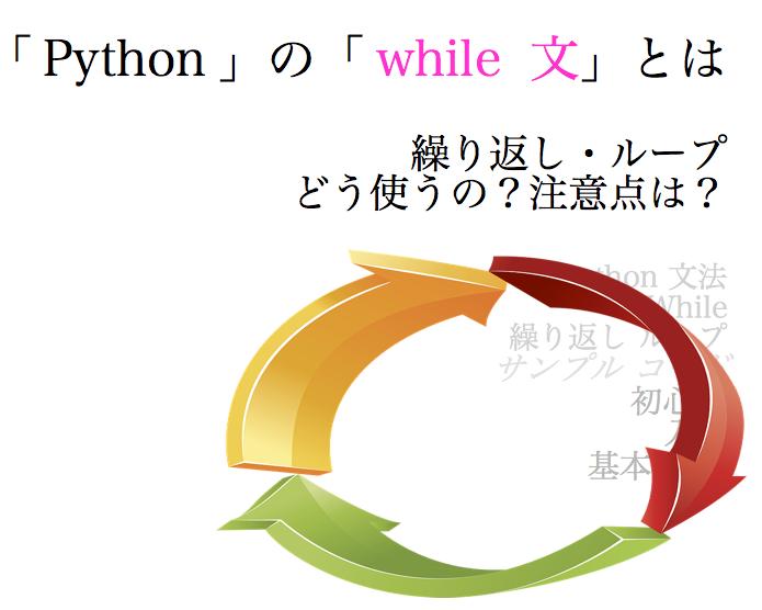 python ループ 繰り返し while 文 サンプル コード