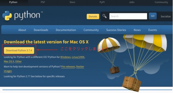 Python ダウンロード download mac 4