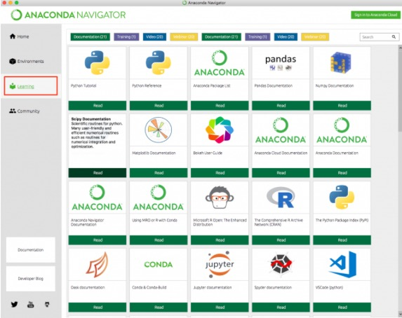 anaconda python 実行 tacos anaconda navigator Learning 2