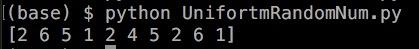 python 乱数 一様乱数 numpy uniform random randint 3