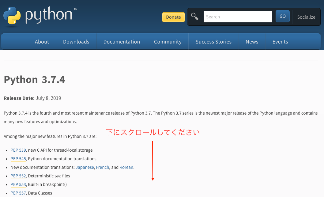 Python ダウンロード download mac 10.6 32bit 32
