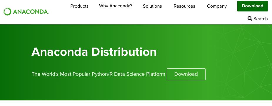 anaconda python ホームページ