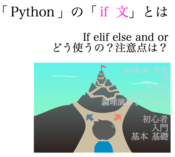 python if if文 else elif and or サンプル コード0
