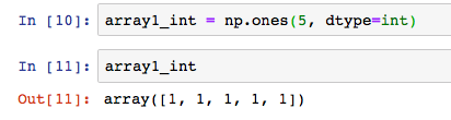 python numpy np ones dtype