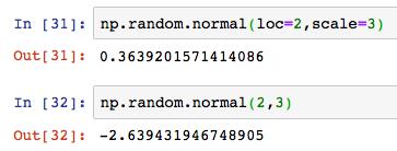 Python numpy np random normal 2