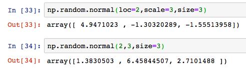 Python numpy np random normal 3