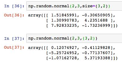Python numpy np random normal 4