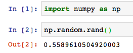 Python numpy np random rand randint 1