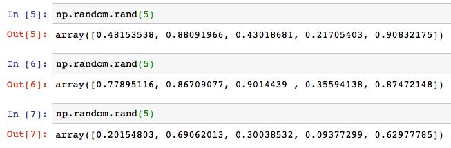 Python numpy np random rand randint 3