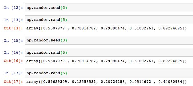 Python numpy np random rand randint 5