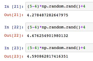 Python numpy np random rand randint 6