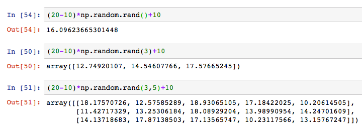Python numpy np random rand randint 9