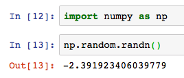 Python numpy np random randn 1