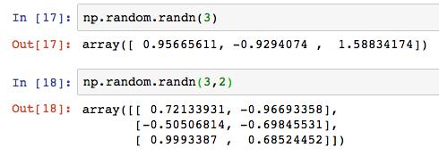 Python numpy np random randn 2