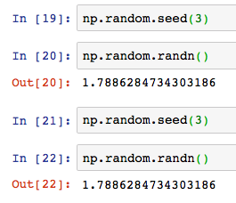 Python numpy np random randn 3