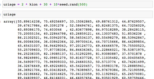 ニューラルネットワークモデル回帰 サンプル コード 4 データ生成 売上