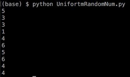 Python numpy randint for一様乱数 2