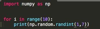 Python numpy randint 一様乱数 3