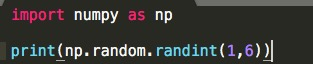 Python numpy 一様乱数 1